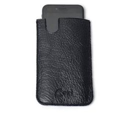 Husa telefon universala, din piele neagra.jpg